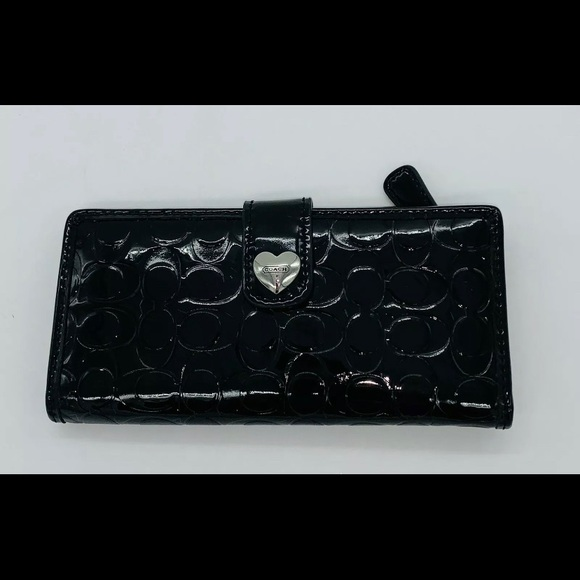 Coach Handbags - Coach Signature Patent Leather Wallet